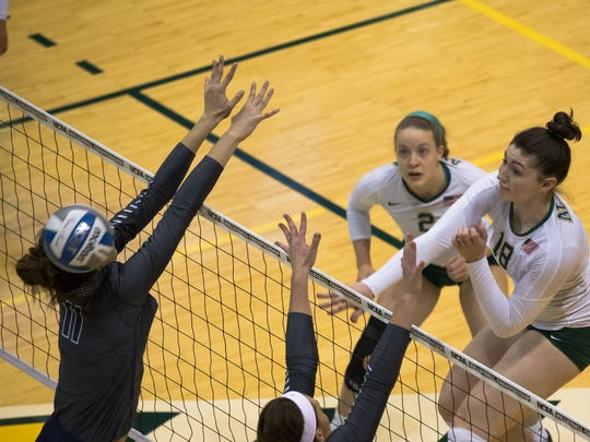 Alaska-Anchorage freshman Vanessa Hayes (18), a McNary graduate, played in every match as a freshman this season.