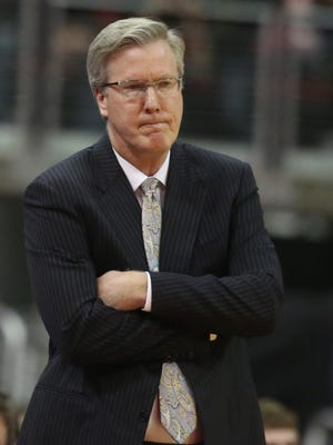 Iowa head basketball coach Fran McCaffery watched his team connect on just three field goals after halftime on Saturday.
