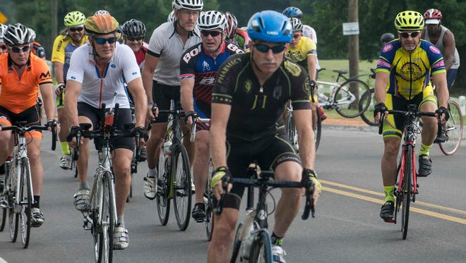 """Montgomery Lions Club held its annual Cycling for Sight ride on Saturday, June 27, 2015. This year's ride is sponsored by the Montgomery Bike Club and Creek Casino, and began at the Tallapoosa Lakes Convention Center on Dozier Road. The ride commemorates Helen Keller, a native Alabamian, who courageously challenged Lions Club members to become """"Knights of the Blind in the Crusade against darkness."""""""
