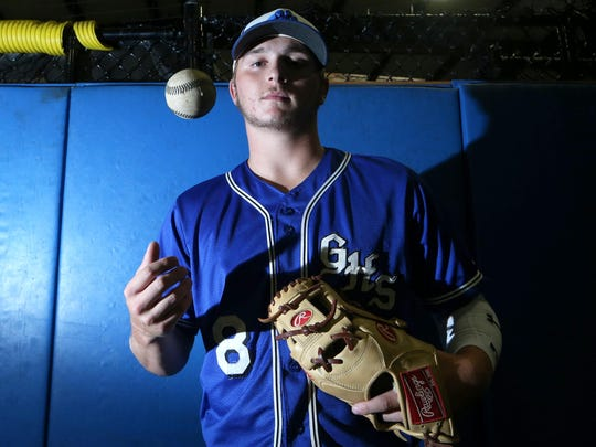 Godby senior shortstop and pitcher Logan Lacey is the