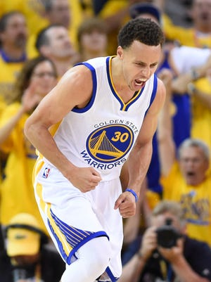 Stephen Curry scored 37 points with seven 3s in the Warriors' Game 5 win.