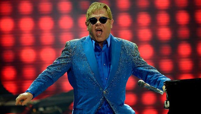 Elton John performs in Rio de Janeiro, Brazil, on Sept. 20, 2015.