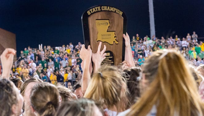 STM beats Central Lafourche 1-0 to win state soccer championship. Thursday, Feb. 22, 2018.