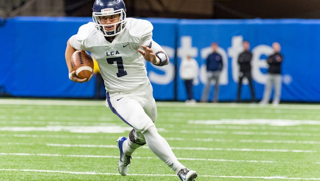 LCA quarterback Zachary Clement ran for 111 yards and threw for 222 to lead the Knights to a 56-7 win over Ascension Catholic on Thursday in the Mercedes-Benz Superdome.