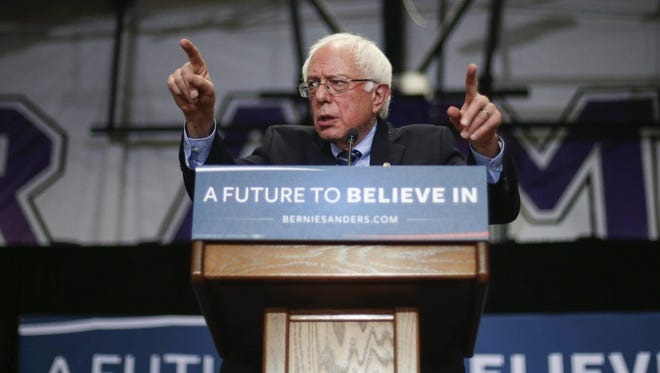 Vermont Sen. Bernie Sanders, a democratic candidate for the president of the United States, spoke to more than 1,100 supporters on Sunday, Dec. 13, 2015, at Cornell College in Mount Vernon, Iowa.