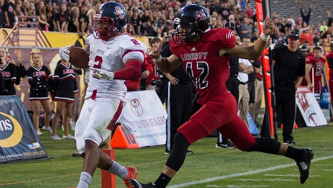Peoria Liberty, which lost to Peoria Centennial in the Division II state championship game, is scheduled to go to Division I with its rivals.