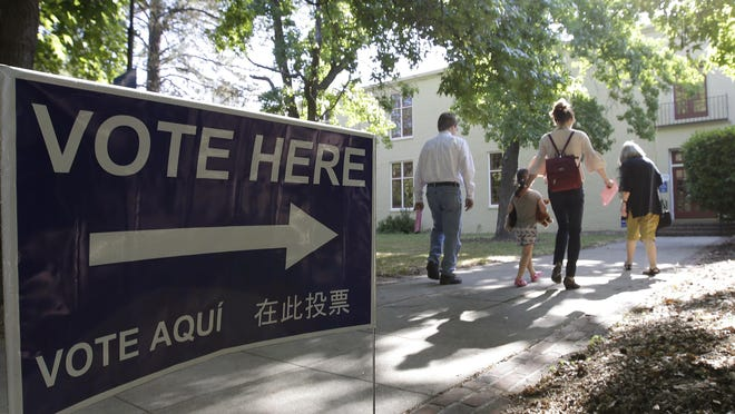 Californians can register to vote on Election Day and cast provisional ballots, but verifying those will take time. Rich Pedroncelli/AP Voters walk to a precinct place at the Sierra 2 Center for the Arts and Community to cast their ballots Tuesday, June 5, 2018, in Sacramento, Calif. Voters are casting ballots in California's primary election, setting the stage for November races. (AP Photo/Rich Pedroncelli) ORG XMIT: CARP203