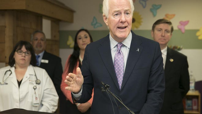 U.S. Sen. John Cornyn, R-Texas, speaks about his proposed Jenna Quinn Law at the Center For Child Protection in April 2019.