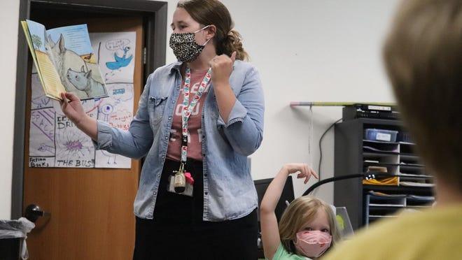 Cailley Hendricks teaches summer school class.