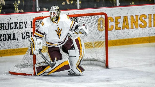 Sophomore goalie Joey Daccord is playing a vital role for Arizona State hockey, in its second full NCAA season.