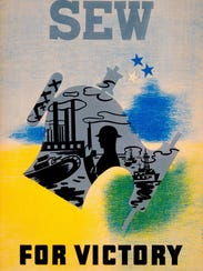 This WPA Sew for Victory poster was used in the early days of the war. The WPA disbanded two years after the war began.