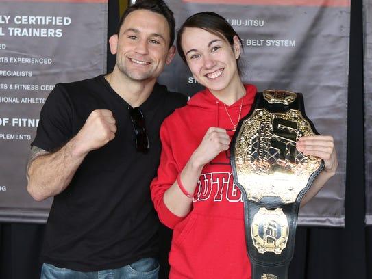 Former UFC Lightweight Champion Frankie Edgar, left,