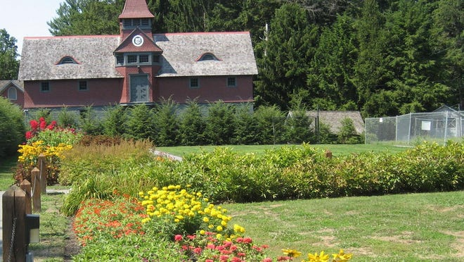 The gardens bloom at the gravesites of Franklin and Eleanor Roosevelt.