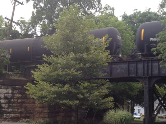 Crude oil train