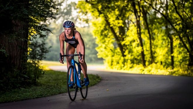 St. Cloud's Lauren Steinke is one of the top triathletes in the country in her age group. Steinke, 18, is a senior at St. Cloud Tech.