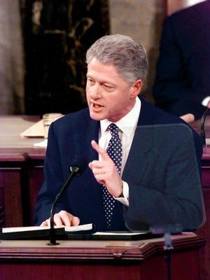 Former president Bill Clinton in 1998.