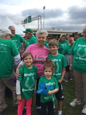 Writer Ann Sherman's mother, Harriet, and her three grandchildren at the 2015 Walk to End Alzheimer's
