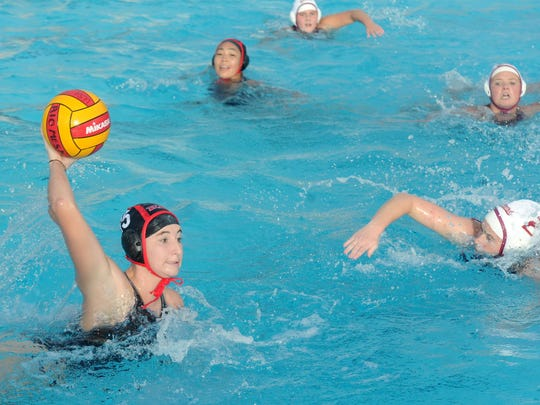 Rio Mesa's Lainy Lyskin passes the ball against Oxnard during last week's Pacific View League match. The Spartans are favored to win their fourth straight league title before making a run in the Division 3 playoffs.