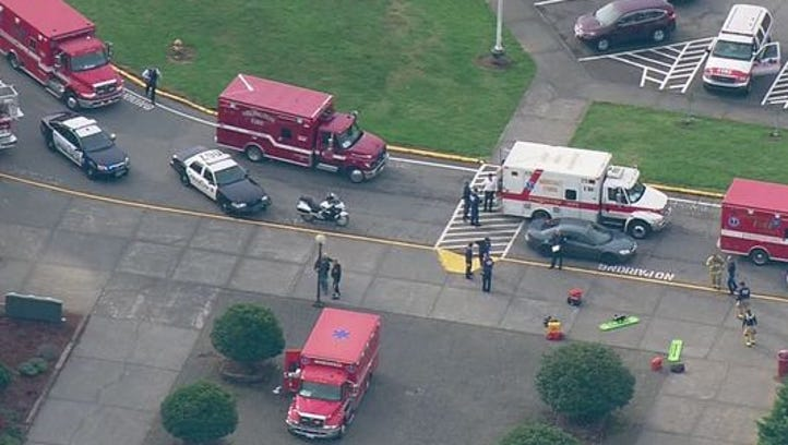 Police respond to Marysville Pilchuck High School.