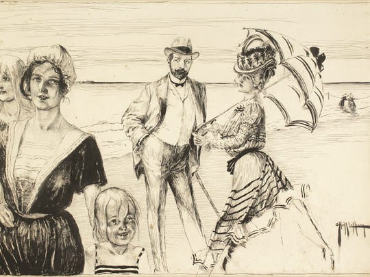 """""""The Result"""" is an 1898 work by Rose O'Neill in pen and ink on paper published in Puck magazine. It is now in the private collection of Susan Wilson, lent to Springfield Art Museum for a Rose O'Neill exhibit set to begin in mid-April."""
