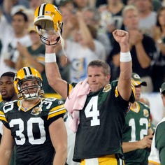 Capers, Moss recall competing vs. Favre