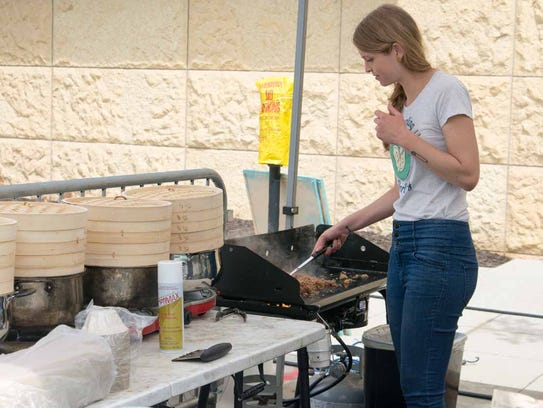 Dumpling Darling hosted a tent with cooked food at