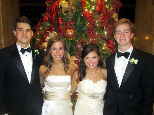 From left, Patton Orr and Gracie Meeks and Ramy Bourland and George Crews were at Memphis Junior Cotillion.