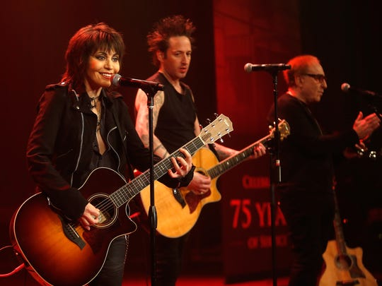 Joan Jett and the Blackhearts perform onstage during the USO 75th Anniversary Armed Forces Gala & Gold Medal Dinner on Dec. 13, 2016, in New York.
