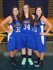 Lakeland's senior basketball class includes (from left)