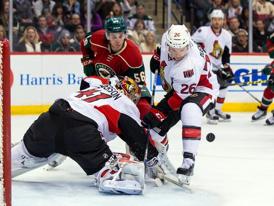 NHL: Ottawa Senators at Minnesota Wild