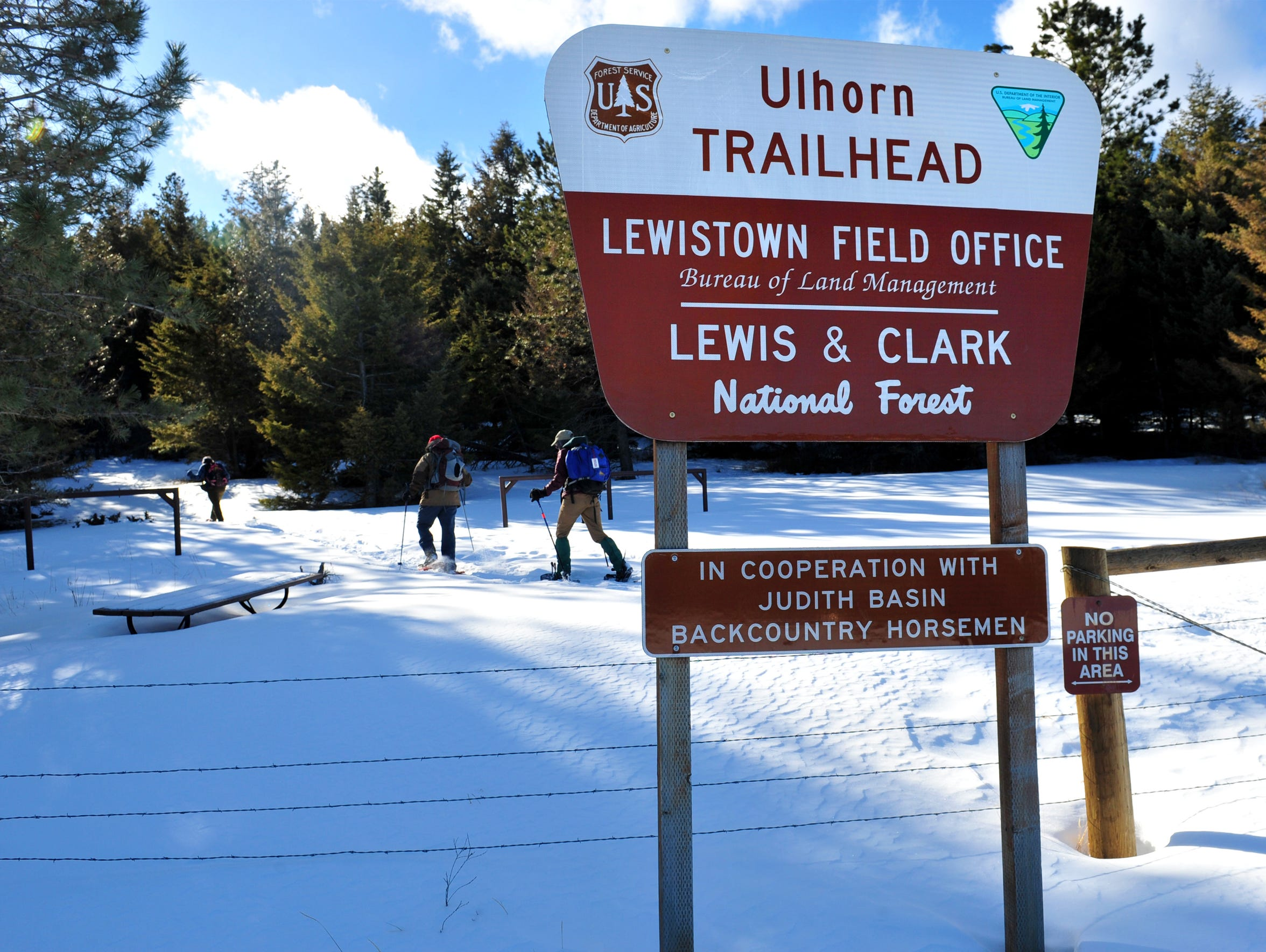 The Ulhorn trailhead in the Big Snowy Mountains is