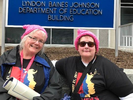 Julie Harrison (left) of Milford and Catherine Keyes