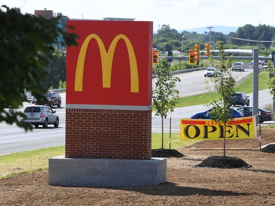 McDonald's at Frontier Center on Richmond Avenue in Staunton.