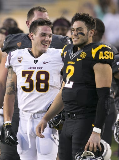 Take a look at the ASU football team's depth chart as the Sun Devils begin the 2015 season.