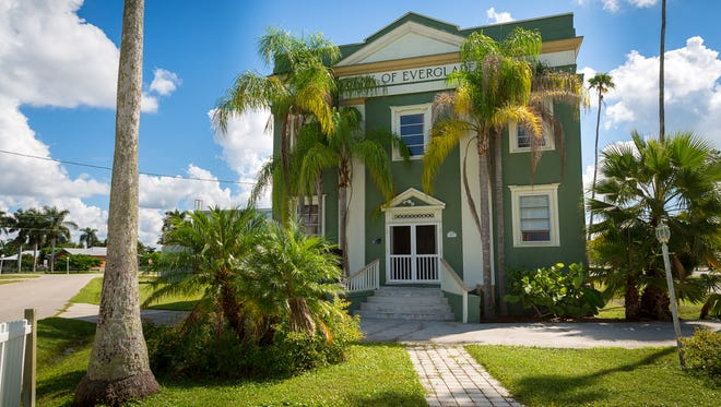 File: The Bank of Everglades building in Everglades City.