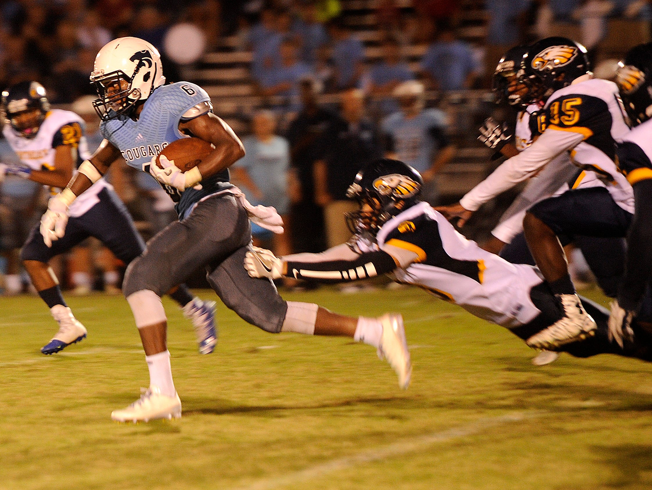 Jariel Wilson rushed for 200 yards and three touchdowns in a 21-3 Centennial win over Northeast.