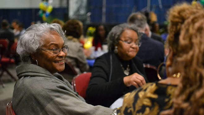 Doris Reed, 68, enjoys breakfast at the Civic Center of Anderson Friday during the 10th Annual Mayor's Martin Luther King, Jr. Breakfast.
