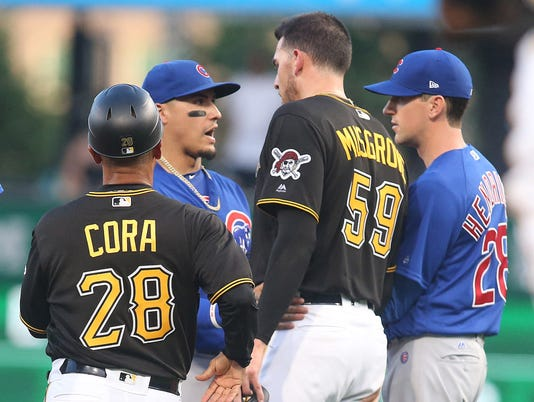 USP MLB: CHICAGO CUBS AT PITTSBURGH PIRATES S BBN PIT CHC USA PA