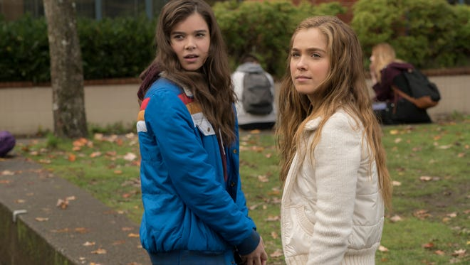 """Hailee Steinfeld, left, and Haley Lu Richardson in a scene from """"The Edge of Seventeen."""" The movie opens Thursday at Regal West Manchester Stadium 13 and R/C Hanover Movies."""