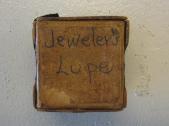 The Smith Jewelers' loupe box, used in Stuart in the 1920s.