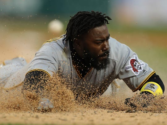 Josh Harrison hit just eight home runs in 97 games with the Pirates in 2018.