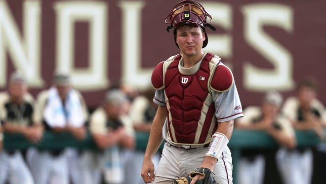 Former Smoky Mountain High star Cal Raleigh is the starting catcher on the Florida State baseball team, which opens this weekend in the College World Series at Omaha, Nebraska.