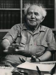 David Ben-Gurion, former Israeli premier and minister