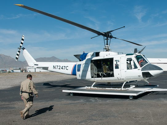 Pictured is a U.S Customs and Border Protection UH-1