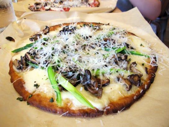 A wild mushroom pizza at the new True Food Kitchen