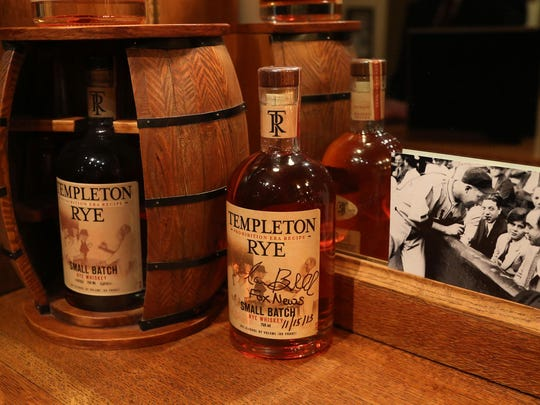 Bottles of Templeton Rye.
