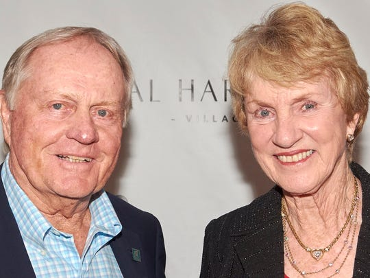 Jack Nicklaus and his wife, Barbara, in 2016.