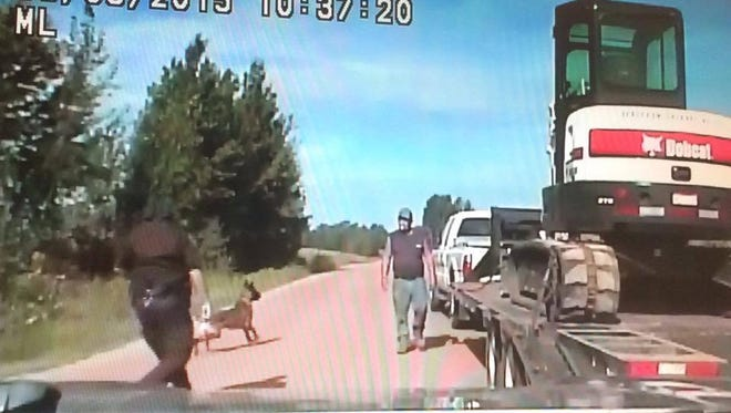 Klyde Gebelein is suing a Marathon County Sheriff's deputy after he was bit in the head by a police dog.