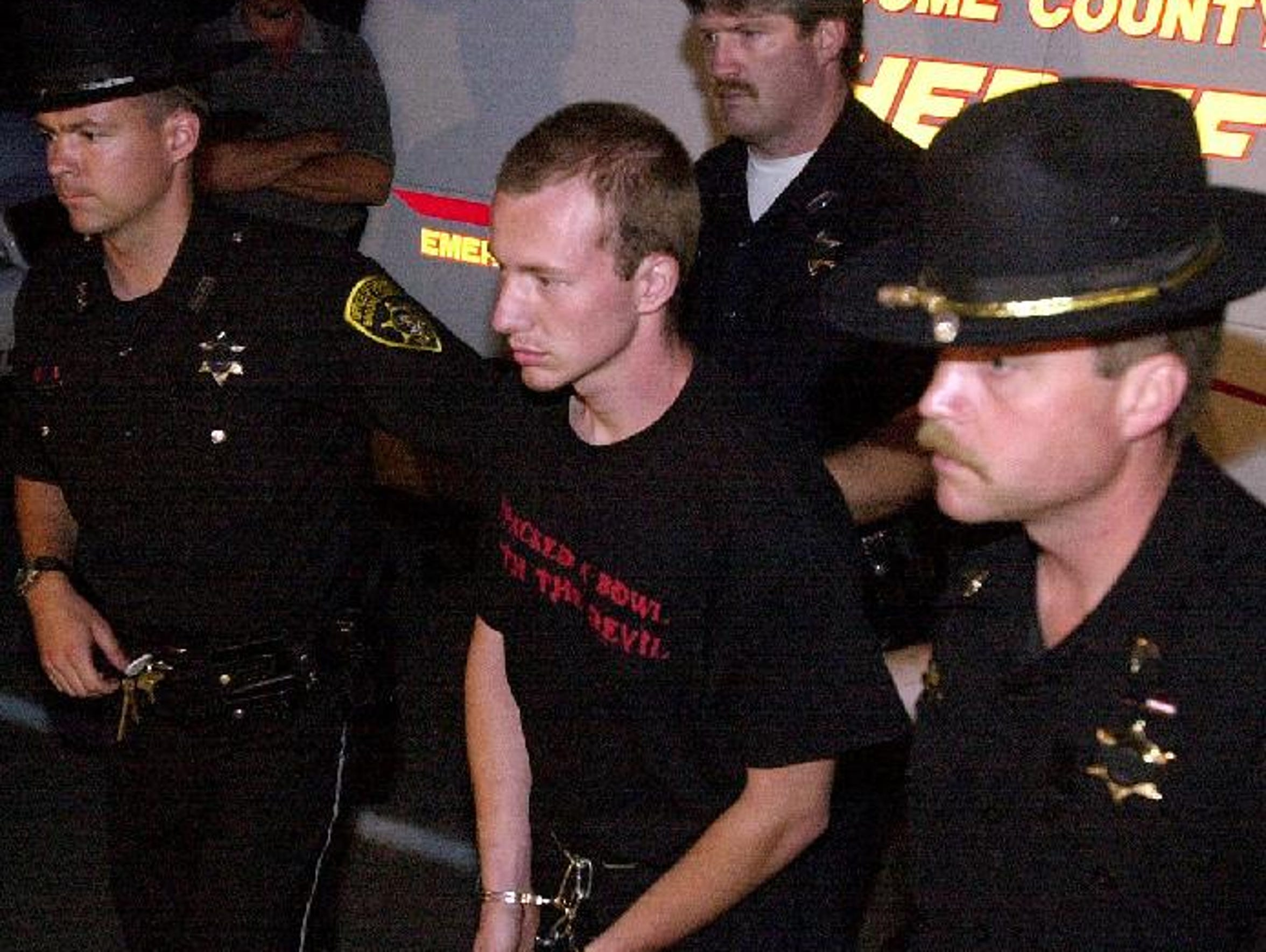 A file photo from 2002 shows David Sweat, then 22,
