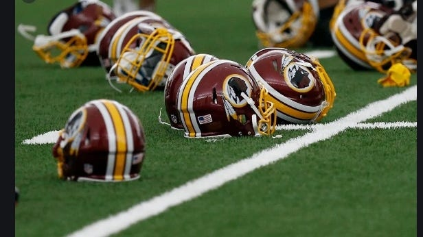 Washington's football team is expected to keep its red and gold colors but will have a new name and logo starting this season.